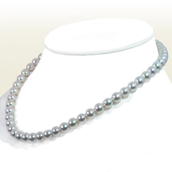 真多麻真珠 グレー系 あこや真珠ネックレス <7.5〜8mm> 鑑別書付 N-11956