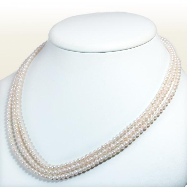 ベビーパールロングネックレス (140cm)あこや真珠ネックレスパールネックレス<3.5〜4mm>アコヤ真珠 N-11121