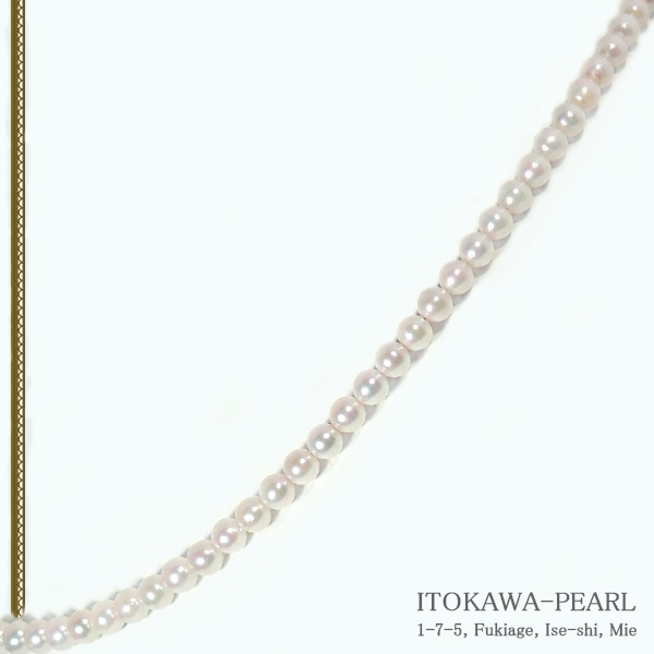 あこや真珠 ベビーパールネックレス<3.5〜4mm>アジャスター・K14WG N-4658