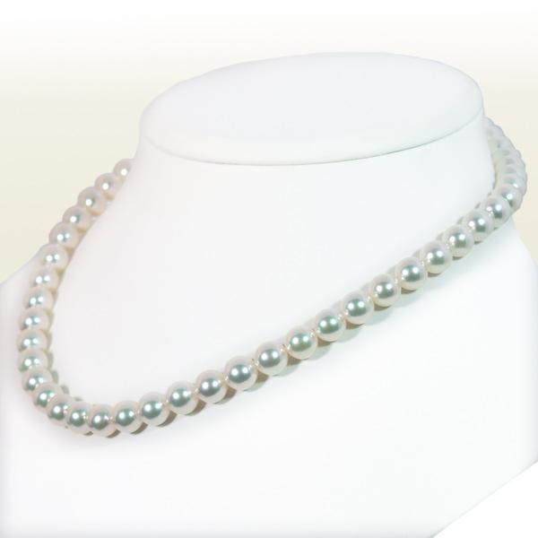 無調色花珠真珠2点セットあこや真珠ネックレス<8mm>鑑別書付 NE-2086