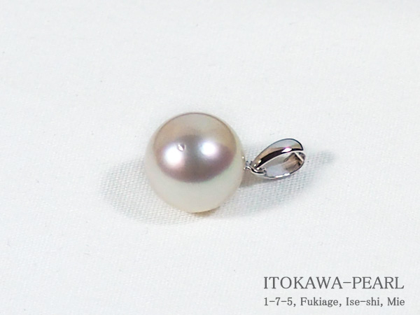あこや真珠ペンダントトップ<9.3mm>K14WG P-8277