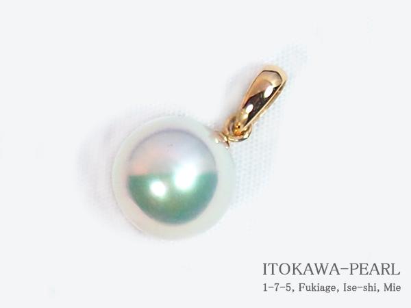 あこや真珠ペンダントトップ<8.9mm>K18YG P-8315