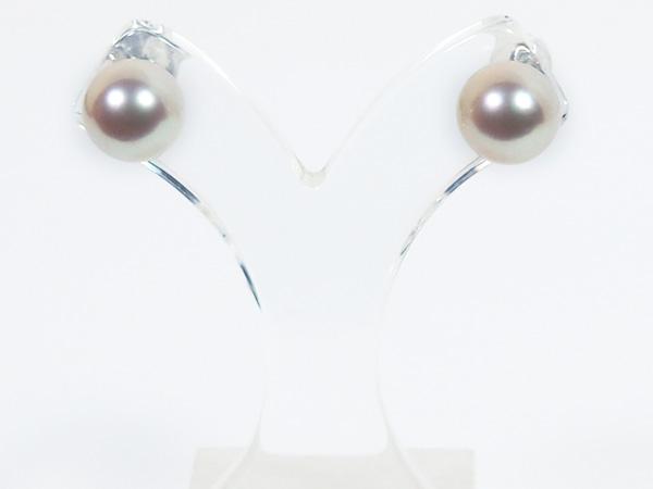 花珠真珠あこや真珠ピアス<8.7mm>スタッド・K14WG PE-7129