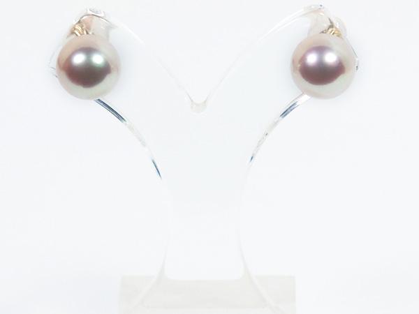 花珠真珠あこや真珠ピアス<8.7mm>スタッド・K18YG PE-7130