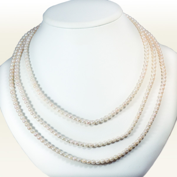 ベビーパールロングネックレス(162.5cm)あこや真珠ネックレス<4.5〜5mm>N-11479