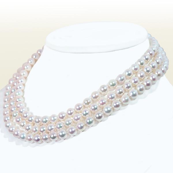 ロングネックレス(130cm) あこや真珠ネックレス<7.5〜8mm> N-11784