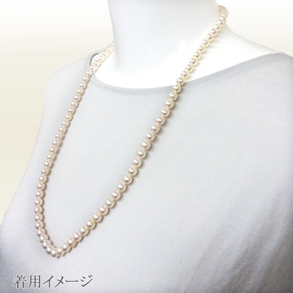 ロングネックレス(62cm)あこや真珠ネックレス<6.5〜7mm>N-11902