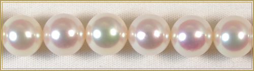 花珠真珠2点セット あこや真珠ネックレス<6.5mm> 鑑別書付 NE-1620