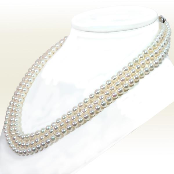 無調色 ロングネックレス (163.5cm)あこや真珠ネックレス<6.5〜7mm> N-11901