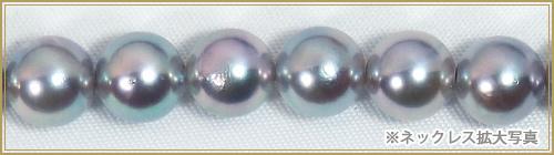 グレー系あこや真珠パールネックレス<7.5〜8mm>N-12062
