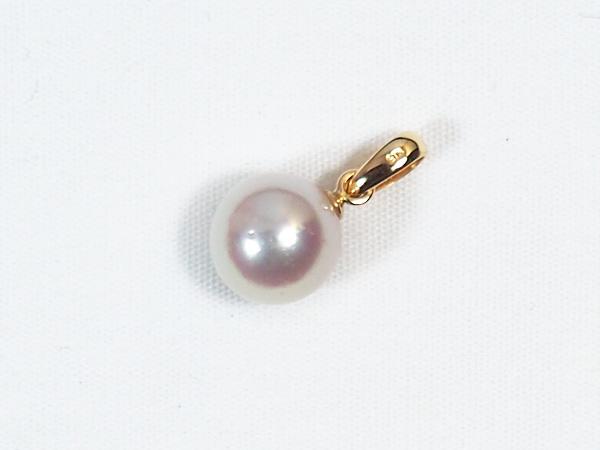 あこや真珠ペンダントトップ<7.7mm>K18YG P-8254