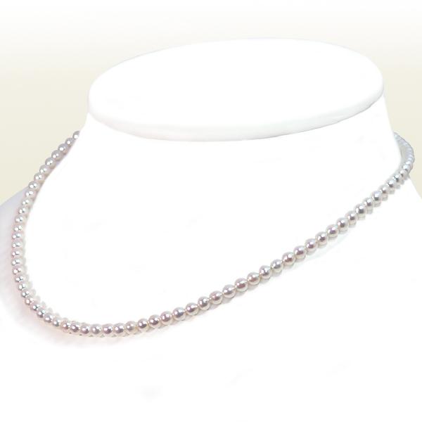 あこや真珠 ベビーパールネックレス<3.5〜4mm>アジャスター付・K18YG N-12178