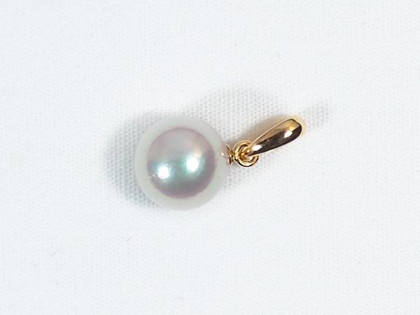 あこや真珠ペンダントトップ<7.7mm>K18YG P-8255
