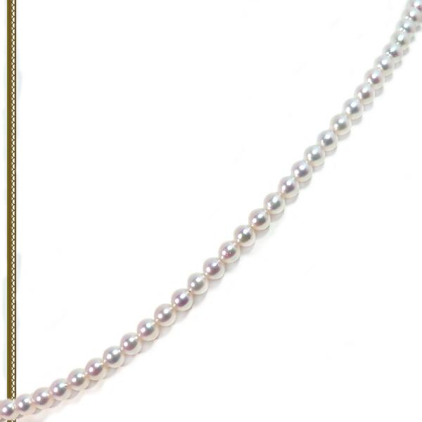 あこや真珠 ベビーパールネックレス<3.5〜4mm>アジャスター・K14WG N-12179