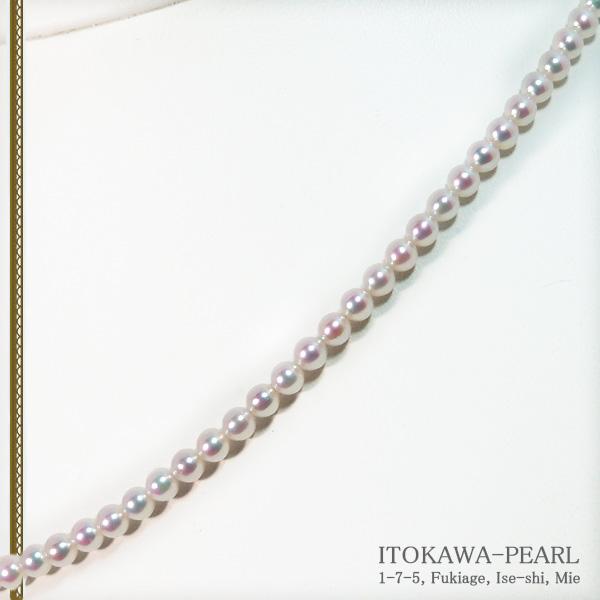 あこや真珠ベビーパールネックレス<3.5〜4mm>アジャスター・K14WG N-12180