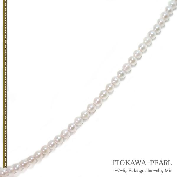 あこや真珠ベビーパールネックレス<3.5〜4mm>アジャスター・K14WG N-12299