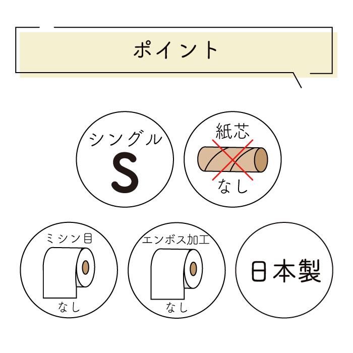 イットコ 芯なし 1ロール 130m シングル 48個10130035 [◇]【re】