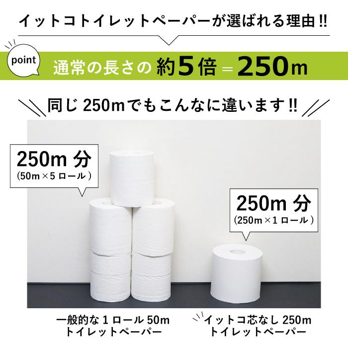 イットコ 芯なし SLIM 6ロール 250m シングル 8パック 新生活 10250006[◇]【re】