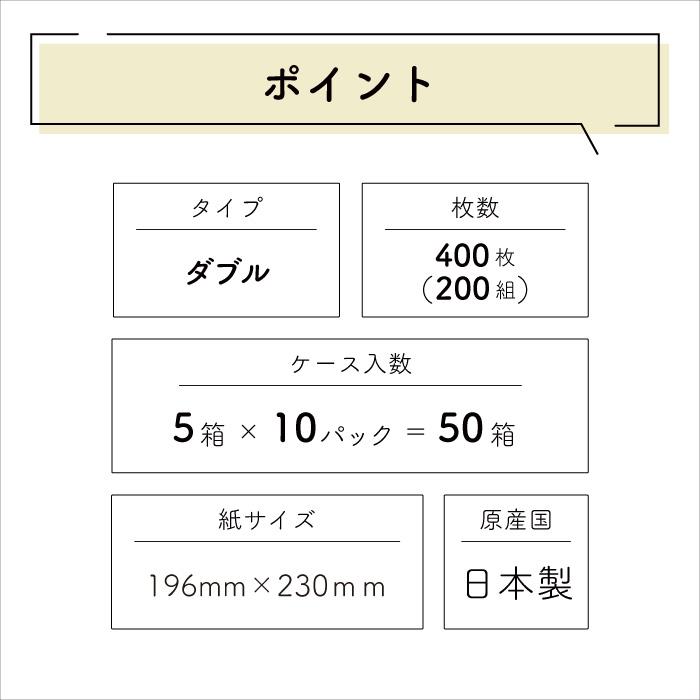 イトマン ECO ティッシュ 200組×5個入×10パック 50個 20200002[◇]【re】