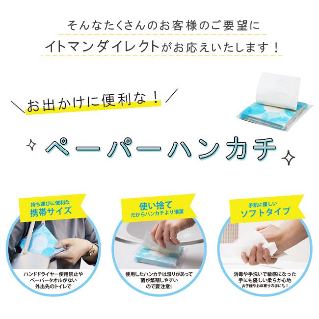 ペーパーハンカチ 日本製 L20 ダブルソフト 3パック 30パック入 50020001[◇]