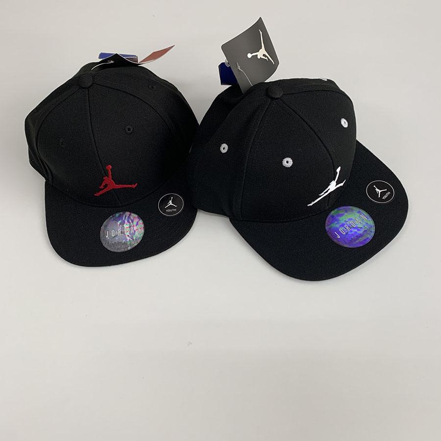 Jordan Kids Jumpman Snapback キャップ(ブラック×レッド)