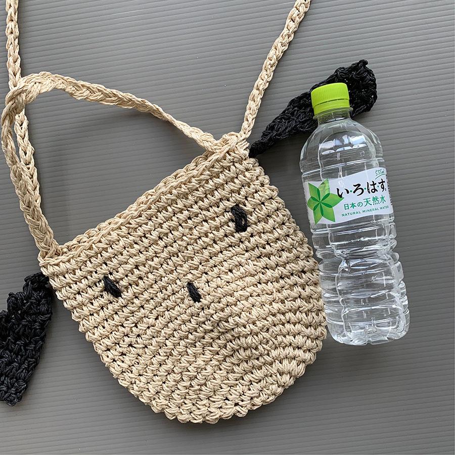 【即納商品】 麦わらイヌバッグ