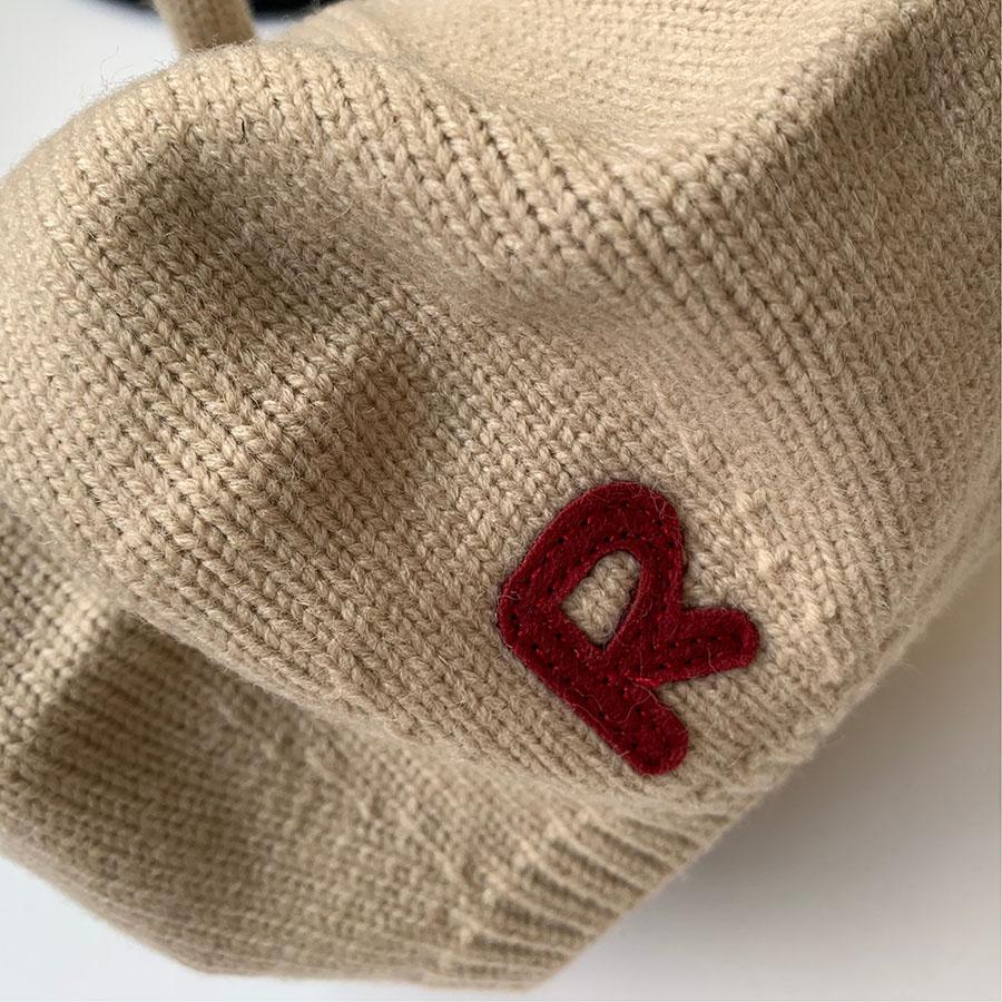 【即納商品】 KIDS-アルファベットニットベレー帽