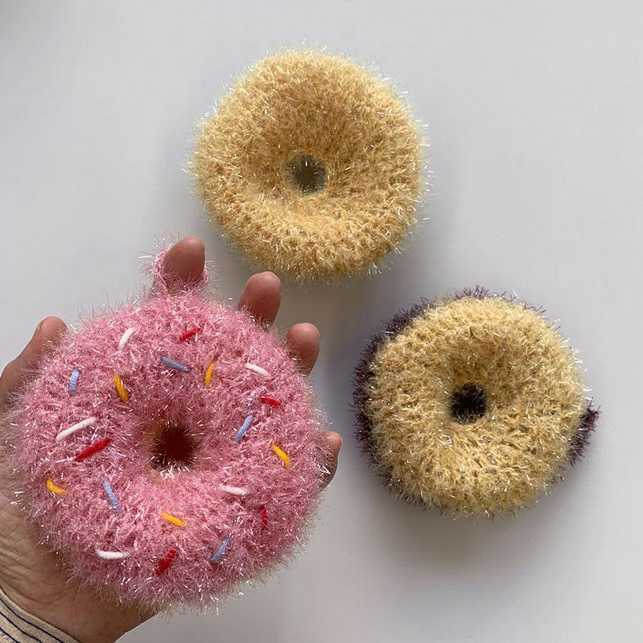 アクリルたわし 『ドーナッツ3個set』