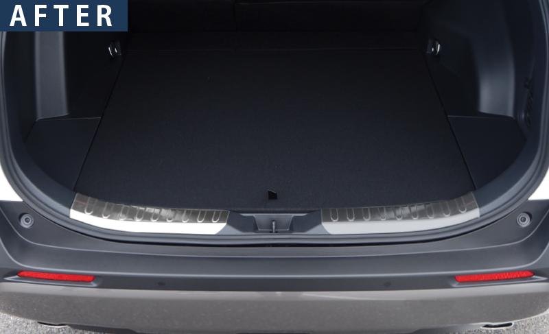 【アウトレット品】RAV4 ラゲッジスカッフプレート シルバーヘアライン 2P|トヨタ TOYOTA ラブフォー 50系 新型RAV4(2019年4月〜)MXAA54 AXAH54 AXAH52 MXAA52 リア カスタム 専用 パーツ ドレスアップ