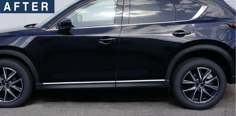 CX-5 サイドモール 鏡面仕上げ 4P|マツダ MAZDA  kf 専用設計 ドレスアップ専用 パーツ エアロ専用 パーツ ガーニッシュ アクセサリー アンダースカート サイドシル サイドドア メッキ モール 外装 オプション エアロ