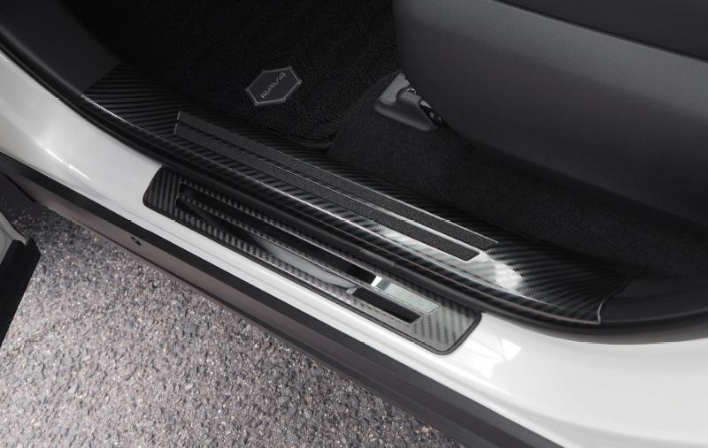 【セット割】RAV4 サイドステップ内側&外側 スカッフプレート パーツ2点セット 選べる3カラー シルバーヘアライン/ブラックヘアライン/カーボン調|トヨタ TOYOTA 新型 ラブ4 50系 カスタム 専用