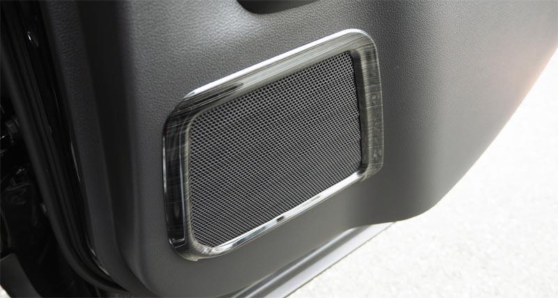 UX スピーカーリング 4P レクサス LEXUS UX UX200 UX250h 選べる2カラー サテンシルバーメッキ 艶有りブラックヘアライン カスタム 専用 パーツ ドレスアップ アクセサリー オプション エアロ