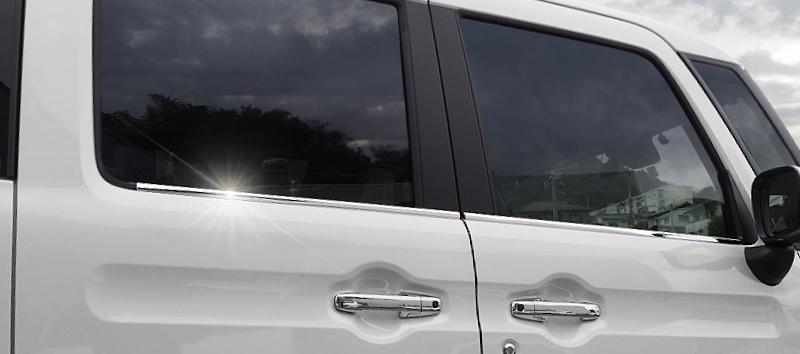【セット割】スペーシアカスタム ウィンドウトリム & サイドガーニッシュ 2点セット|スズキ SUZUKI SPACIA CUSTOM MK53S SUZUKI 外装メッキ専用 パーツ カスタム 専用 パーツ ドレスアップ アクセサリー オプション エアロ