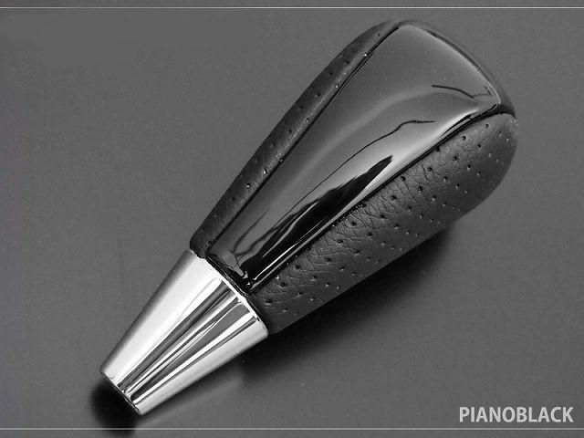ハリアー シフトノブ|トヨタ TOYOTA HARRIER 60系 ピアノブラック×パンチングレザー 純正交換タイプ カスタム 専用 パーツ ドレスアップ アクセサリー オプション エアロ