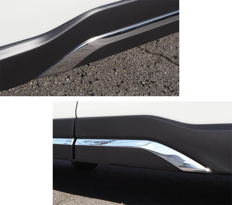 フォレスター サイドリップガーニッシュ|スバル SUBARU FORESTER SK系 4P SUBARU 鏡面メッキ カスタム 専用 パーツ ドレスアップ オプション エアロ