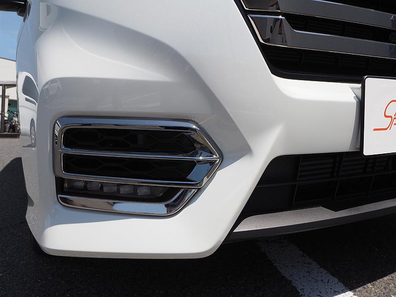 ステップワゴン フロントフォグ ガーニッシュ 2P|ホンダ HONDA STEPWGN スパーダ RP系 後期 ダーククロームメッキ近似色 カスタム 専用 パーツ ドレスアップ アクセサリー オプション エアロ