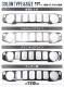 【アウトレット品】ジムニー JB64 ジムニーシエラ JB74 フロントグリルカバー|スズキ SUZUKI JIMNY JIMNY SIERRA JB64W/JB74W 選べる4カラー 鏡面仕上げ シルバーヘアライン ブラックヘアライン カーボン調 カスタム 専用 パーツ ドレスアップ アクセサリー