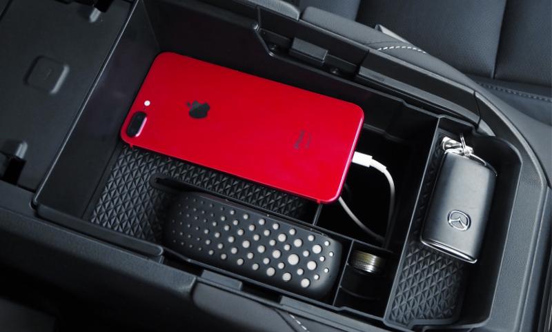 CX-30 コンソールボックス トレイ ブラック ゴムマット付き|マツダ MAZDA CX30 アクセサリー 収納 整理 便利グッズ カー用品 コンソールトレイ インテリア 内装 カスタム 専用 パーツ ドレスアップ オプション