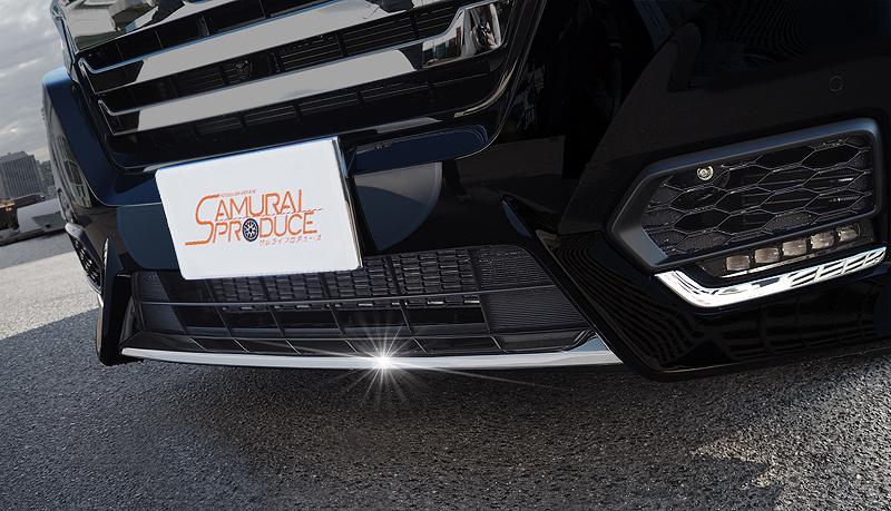 ステップワゴン フロントリップ ガーニッシュ ブラッククローム調 1P|STEPWGN スパーダ RP系 HONDA ホンダ カスタム 専用 パーツ ドレスアップ アクセサリー