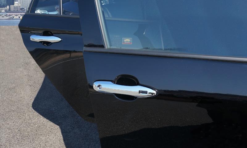 《SALE》プリウス ドアハンドルカバー メッキ 4P|トヨタ TOYOTA PRIUS 50系 後期対応 新型プリウスPHV ZVW52対応 カスタム 専用 パーツ ドレスアップ アクセサリー オプション エアロ