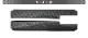 ジムニー/ジムニーシエラ サイドシルスカッフ 縞鋼板柄 2P 選べる3カラー シルバー/ブラック/カーボン調|JIMNY JB64W JIMNY SIERRA JB74 スカッフプレート サイドステップ【予約販売/シルバー、ブラック、カーボン:5月30日頃入荷予定】
