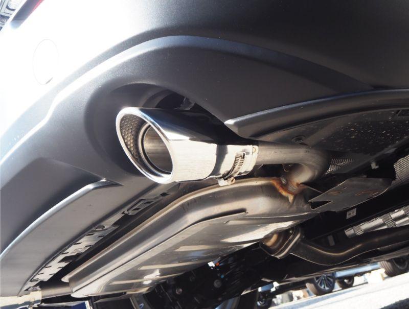 CX-30 マフラーカッター シルバーカラー シングルタイプ 2本セット| マツダ MAZDA  CX30 スラッシュカット 取り付けバンド付属 水抜き穴付き カスタム 専用 パーツ ドレスアップ アクセサリー オプション エアロ