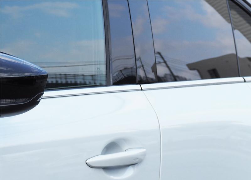 MX-30 ウィンドウトリム 鏡面仕上げ/サテンシルバー 6P |マツダ MAZDA MX30 専用 パーツ カスタム ドレスアップ エアロ 5AA-DREJ3P 専用 サイドモール サイドトリム メッキ 外装 アクセサリー オプション エアロ【予約販売/2月20日頃入荷予定】