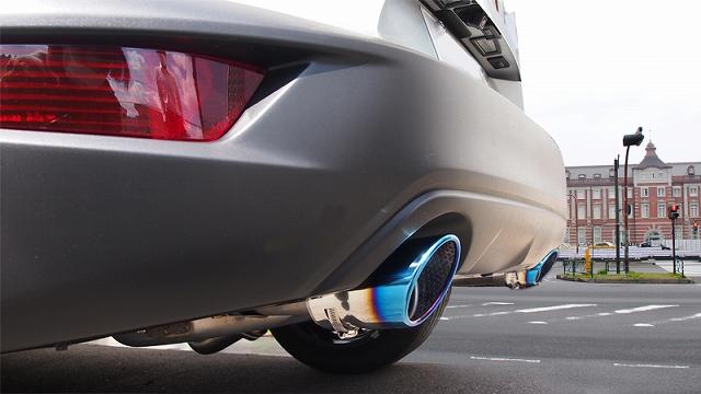 CX-3 オーバル マフラーカッター スラッシュカット シングルタイプ チタンカラー 2本セット|マツダ MAZDA CX3 カスタム 専用 パーツ ドレスアップ アクセサリー オプション エアロ