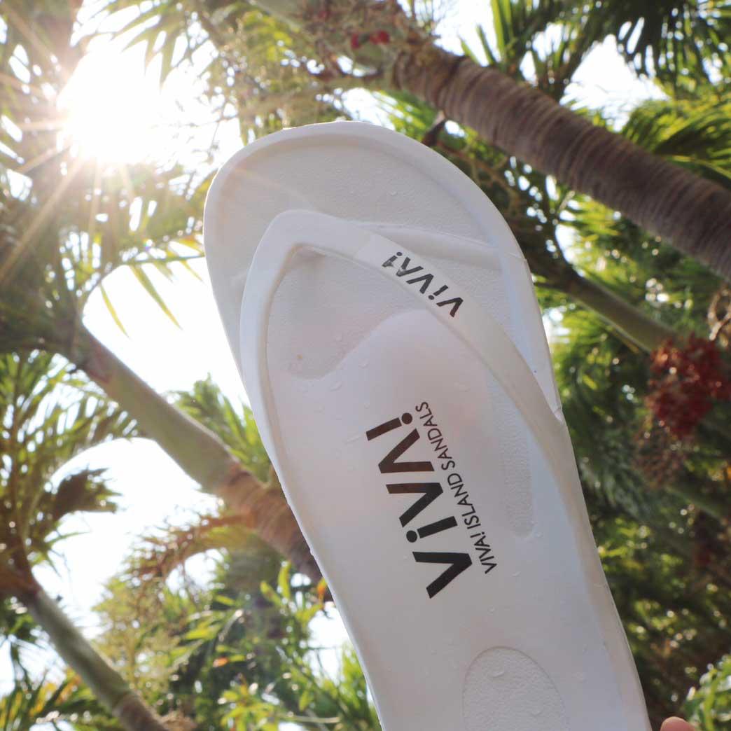 VIVA! ISLAND|(White) ビバアイランド FLIP FLOP ビーチサンダル