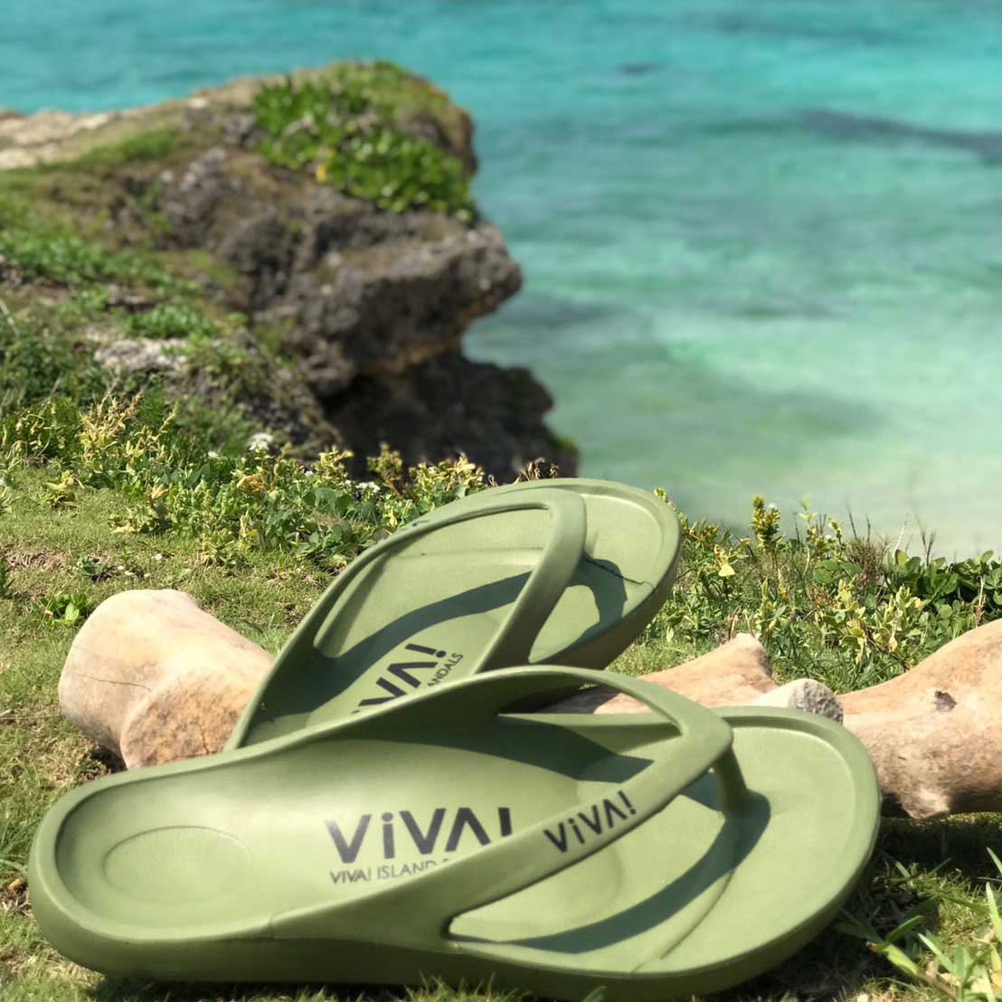 VIVA! ISLAND (khaki) ビバアイランド FLIP FLOP ビーチサンダル