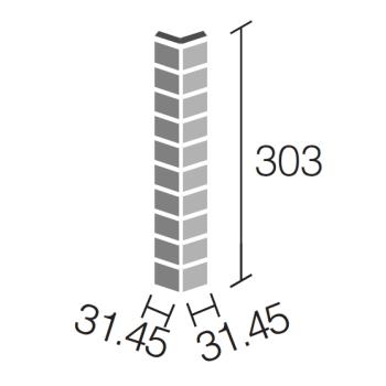ヴィーレ 90°曲ネット張り(グレー)