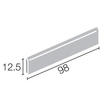 窯変ボーダー 100X15�角ボーダー片面取(長辺)