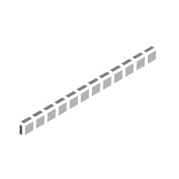 ニュアンス 25�角 片面取ネット張り(A色)