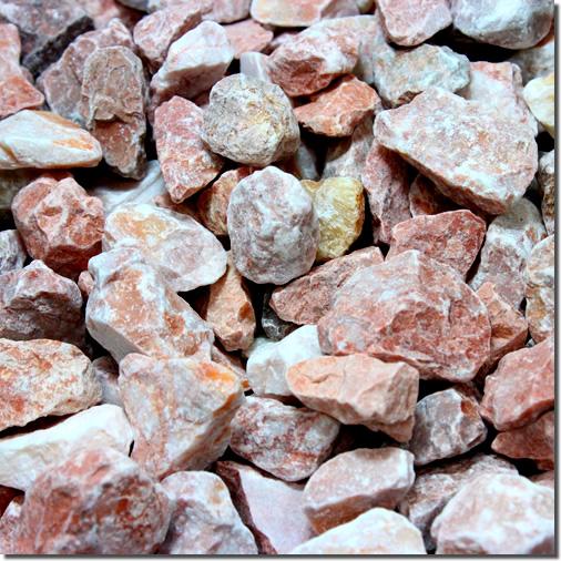 砂利 マーブルチップ砕石タイプ(ピンク)10袋単位販売